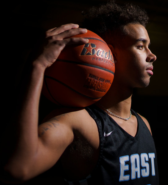 Cheyenne East senior Xavier McCord is the WyoSports Cheyenne Prep Athlete of the Week Tuesday, Feb. 25, 2020, at Cheyenne East High School. Nadav Soroker/Wyoming Tribune Eagle
