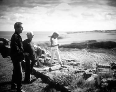 John Davison, Micheal Shanks (snr), Molly, Dunstanburgh 2005