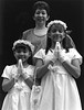 Maria & daughters before first communion, San Colombo Church - Dominican Republic