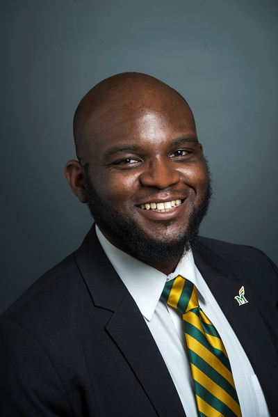 Isaac Agbeshie-Noye, Director, Orientation, Family Programs and Services.  Photo by Evan Cantwell/Creative Services/George Mason University