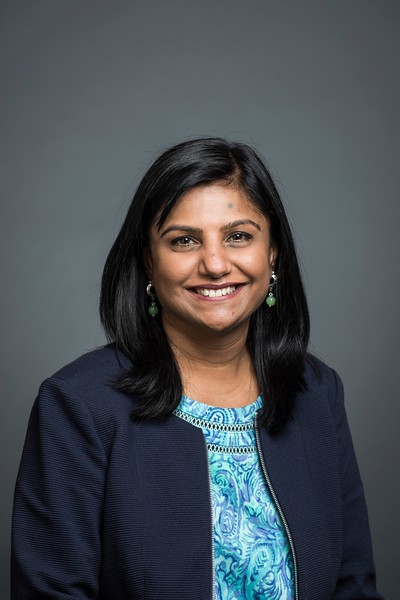 Hina Mehta, Director, Office of Technology Transfer. Photo by:  Ron Aira/Creative Services/George Mason University