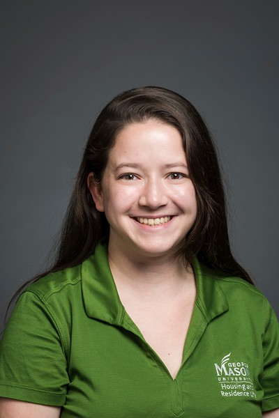 Devon Janes, Living Learning Community Program Coordinator, Housing and Residence Life. Photo by:  Ron Aira/Creative Services/George Mason University