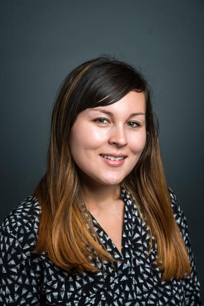 Katherine Johnson, Marketing & Communication Coordinator, School of Business.  Photo by Evan Cantwell/Creative Services/George Mason University