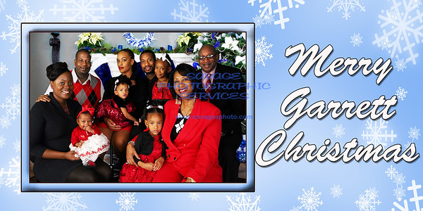 Garrett Christmas Snowflakes Card