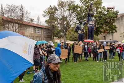 San Jose State University students participate in the 1st National School Walkout protest rally for gun reform; one month after the school shooting in Parkland, Florida in which 17 people were killed by a gunman at Marjory Stoneman Douglas High School.