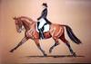 SOLD - Pastel Paining - Dressage Horse
