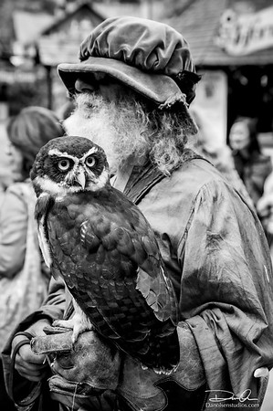Man and Owl Portrait
