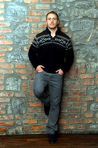 Fashion portrait of Cardiff Blues player, Tom Isaacs.