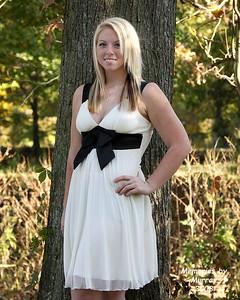 Shelby Nelson, Senior 2009, White Dress, Drakes Creek 1