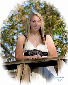 Shelby Nelson, Senior 2009, White Dress, Bridge vignette