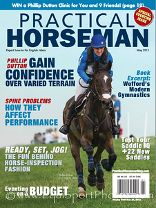May '13 cover, Practical Horseman