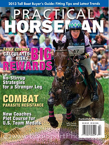 February '13 Practical Horseman cover photo from the Rolex Three-Day Event