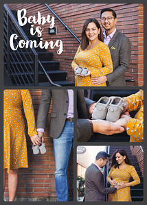 Derick and Crystal's Baby Announcement Photos