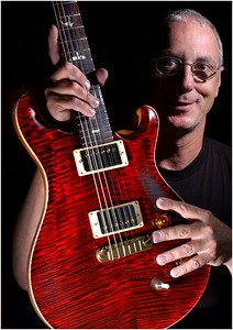 Paul Reed Smith of PRS Guitars shot of him with one of thier high end guitars. MF-D 8/9/05. Credit- The Daily Record