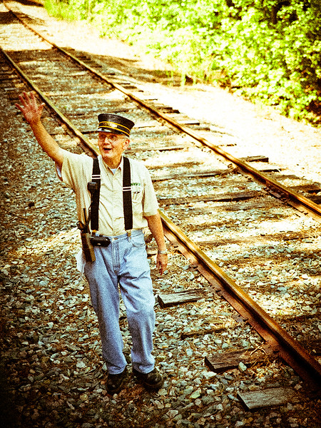Bonsail Railroad 'The Conductor'  On location, New Hill, NC  ©TeeWayne Photography 2011