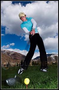 Kristin Walla Golfing