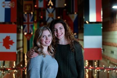 Sarah & Natalie CBU Great Hall Photo Shoot