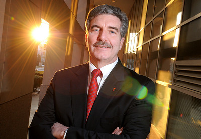 Steven J. Nolan, Attorney and National Board chair of the American Lung Association. Portirats outside of the Building. 3-5-09.  Maximilian Franz\The Daily Record. Credit- The Daily Record
