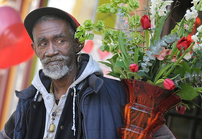 Russelle Turman, Flower Delivery Man for Fleur de lis florist shop at 226 N. Liberty Street in Baltimore City.  Maximilian Franz\The Daily Record. Credit- The Daily Record