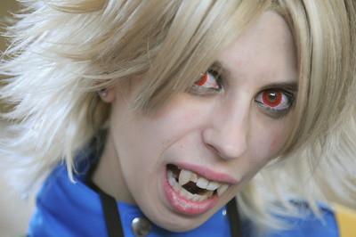 Joleen Siems, of New Jersey, dressed as a vampire named Serias Victorius form Hellsing at the Otakon Convention at the Baltimore Convention Center. Maximilian Franz. 8-8-08. Credit- The Daily Record