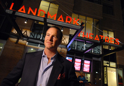 Michael Beatty, President of H+S properties in front of the new landmark Theaters in Inner Harbor east. 10-30-07 MF-D. Credit- The Daily Record