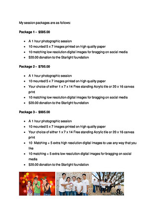 Family Session Information Page 2/2