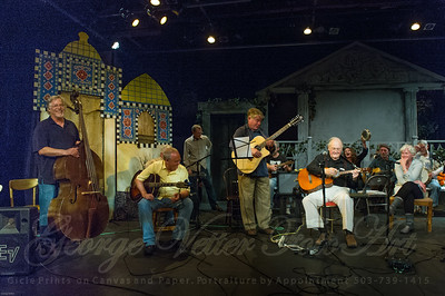 "Sandcastle Concert at Coaster Theatre. Peter Dueber, Bob ""Bobcat"" Rice, Jay Speakman, Paul Dueber, Mike Costello, Bill Steidel, Maggie Kitson, Richard Thomasian, Margo Dueber, Bill Gaylord"