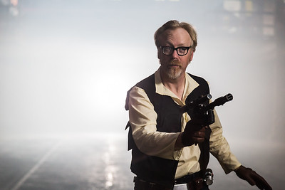 Adam Savage as Han Solo in Mythbusters