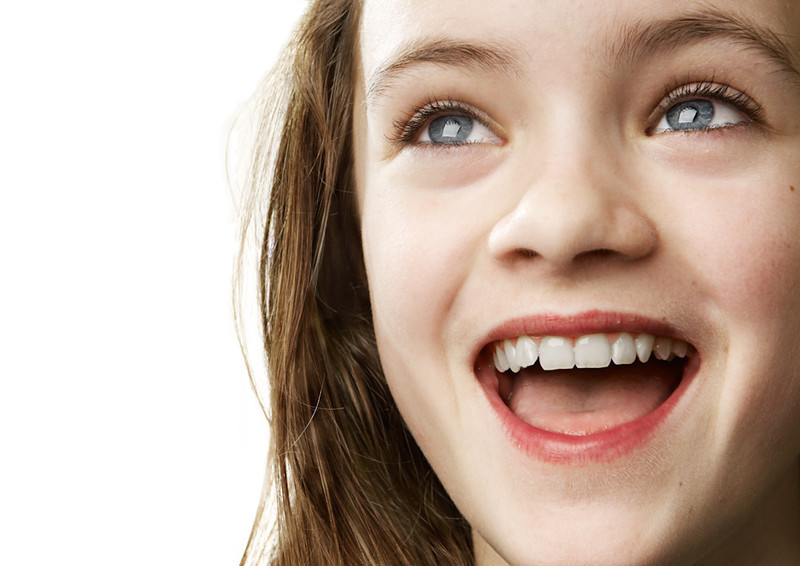 Portrait of a nordic, happy teenage girl