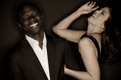 Paul Umeora and Kim McIntyre - having fun during our shoot!