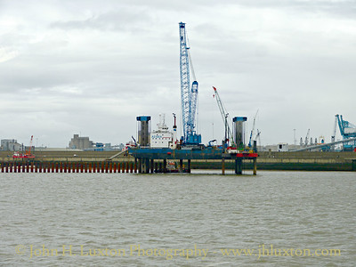 Liverpool 2 Container Terminal Construction Work - April 25, 2015