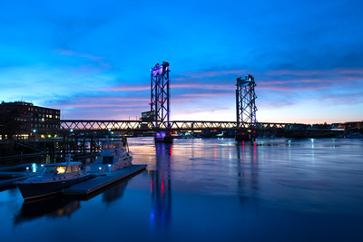 Memorial Bridge At Blue Hour, Portsmouth, NH