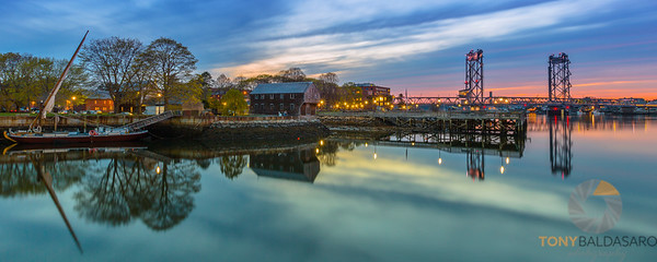 Sunset Over Portsmouth Harbor