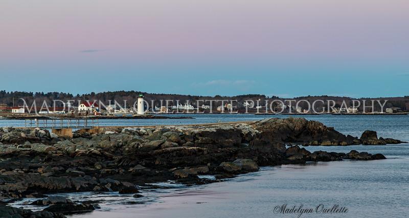 Portsmouth Harbor Lighthouse at Sunset