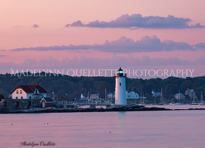 Portsmouth Light in Pink