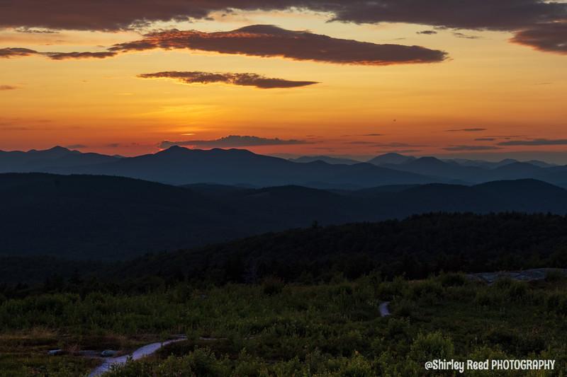 Foss Mountain August sunset
