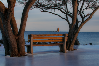 Bench Views of Whaleback Lighthouse