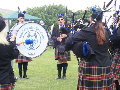 Banuff Castle Pipe Band at Banuff Castle Fete