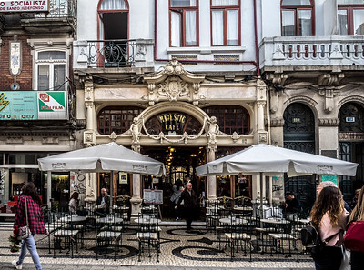 Majestic Cafe, Porto, Portugal.  One of the most famous cafe's in Europe.