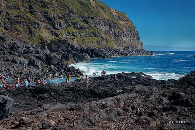 Ponta da Ferraria, nascente termal no mar, S. Miguel, Açores