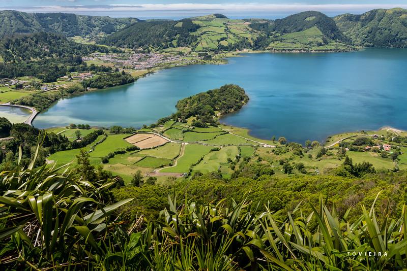 Lagoa das 7 cidades vista do ultimo andar do Hotel Monte Palace, Miradouro Vista do Rei, S. Miguel, Açores