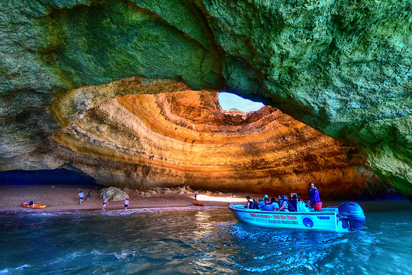 Scenic Cave in Algarve from Boat - Copy