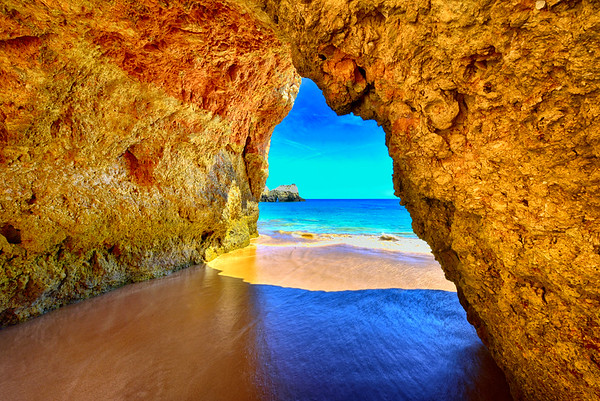 Caves in Algarve, Portugal - August 2020
