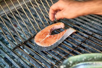 Frischer Fisch vom Holzkohlegrill, Algarve, Portugal