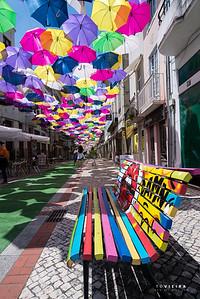 Guarda-chuvas coloridos de Águeda