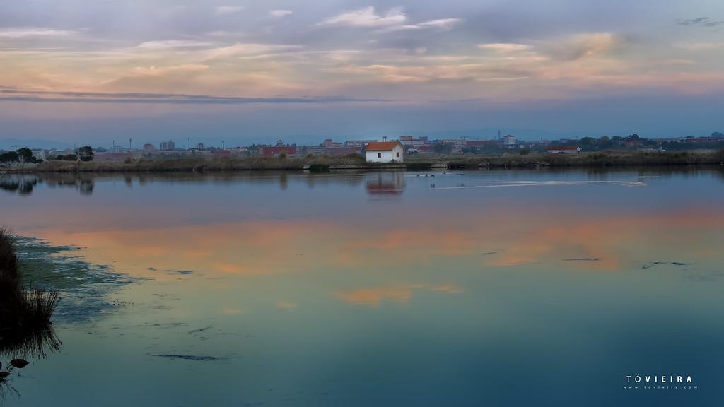 por do sol - rio boco - Ria de Aveiro