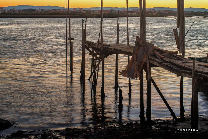 Rio Boco ao pôr do sol, Aveiro