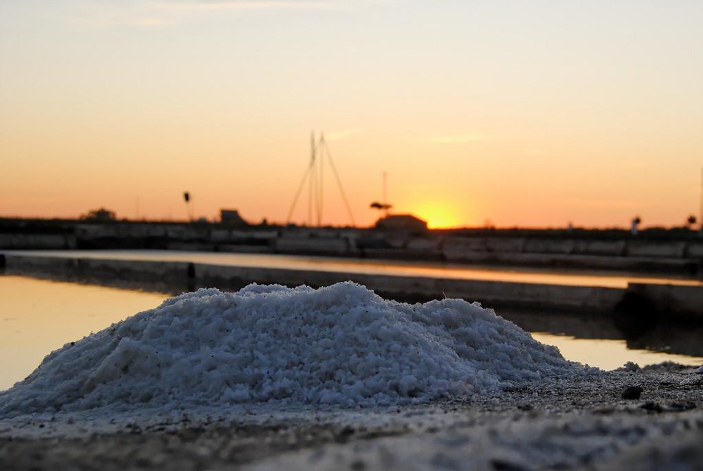 O pôr do Sol nas Marinhas de Sal de Aveiro