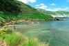 Beach in crater