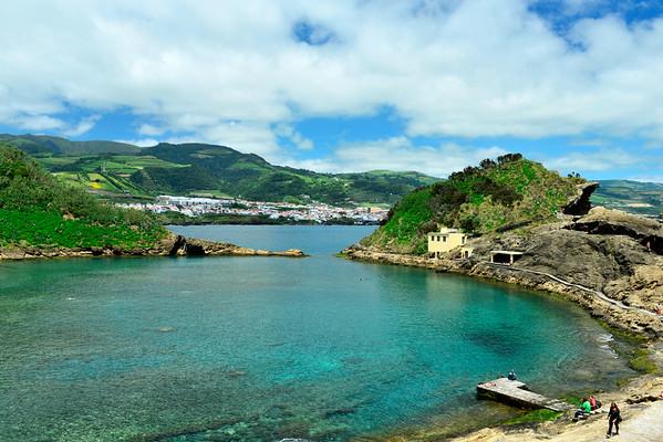 Big swimming pool in island